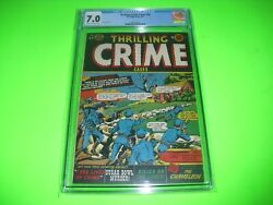 Thrilling Crime Cases 44 Cgc 7.0 From 1951 Highest Grade Pre Code Lb Cole Cover