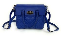 Mulberry Mini Cara Delevingne Convertible Bag Indigo Blue Quilted Lamb Nappa