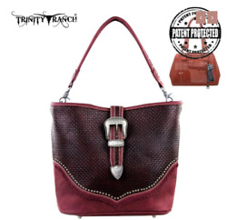 Concealed Carry CCW Gun Montana West USA Trinity Ranch Buckle Design Red Purse $72.99