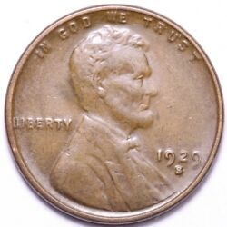 1929-s Lincoln Wheat Cent Penny Choice Unc Free Shipping E783 Rm