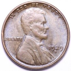 1929-s Lincoln Wheat Cent Penny Choice Bu Free Shipping E787 Kcl