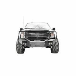 Fab Fours Ff18-h4550-1 Premium Winch Bumper W/grille Guard For Ford F-150 New