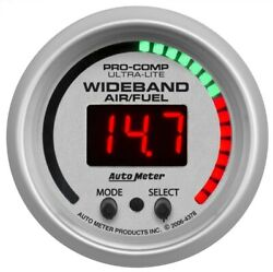 Auto Meter 4378 2-1/16 Ultra-lite Wideband Air/fuel Ratio 61-201 Afr New