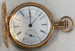 American Waltham Gorgeous Case Pocket Watch 6 Size 14k Hunting - Working