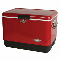 Cooler Ice Chest Box Portable Insulated Camp Outdoor Picnic Vintage Red Coleman