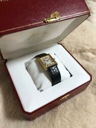 Cartier TANK SOLO Women's Watch Black Gold LM from Japan free shipping