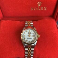 Rolex 69173 Datejust Watch Ladies Overhauled White Dial Color Silver F/s From Jp