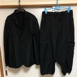 Yohjiyamamoto Pour Homme 16ss Black Suits Set Men's Size S F/s From Japan