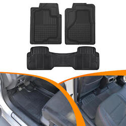 Carxs Heavy Duty 3d Front And Rear Rubber Floor Mats For Auto Car Suv Accessories