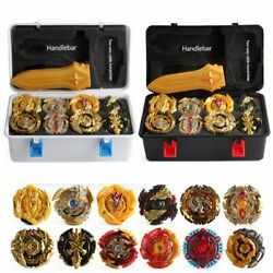 12Pcs Beyblade Gold Burst Set Spinning With Grip LauncherPortable Box Case Gift $33.21
