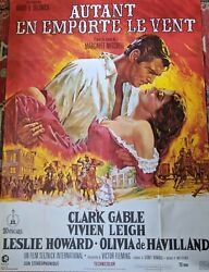 Gone With The Wind 1967 Vintage Original French Movie Poster 46 X 62
