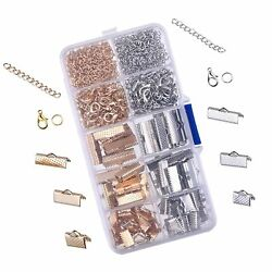 Outus Ribbon Bracelet Kit Bookmark Pinch Crimp Ends Lobster Clasps With Jump ...