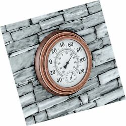 Pure Garden Wall Thermometer-decorative Indoor Outdoor Temperature And Hygrom...