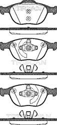 Triscan Disc Brake Pad Set For Ford Focus Tourneo Connect Transit 4387361
