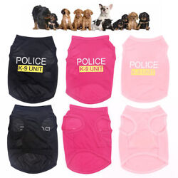 Cute Security Dog Shirt Summer Vest Costume Apparel TShirt Clothes for Pet Puppy $5.99