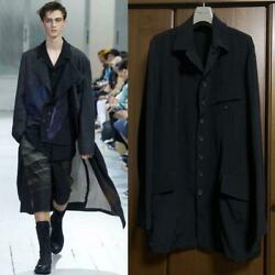 Yohji Yamamoto Pour Homme Black Jacket 20ss Men's Size 4 Used F/s From Japan