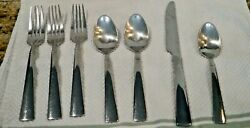 Lot Of 7 Pcs. Reed And Barton Stainless Perspective Flatware