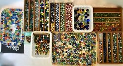 Vtg Marbles 1930-1970and039s 23.8 Pounds 1950+ Pc. Lot Akro Agate Vitro Alley King
