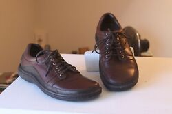 Merrell 43935 Psychic Redwood Brown Leather Lace Up Casual Shoes Menand039s Size 8