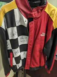 Nascar Winston Cup 1993 Leather Jacket With Autographs...one Of A Kindrare