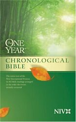 The One Year Chronological Bible Niv One Year Bible Niv Hardcover