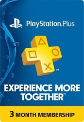 Sony Playstation Ps Plus 3-month Subscription Membership