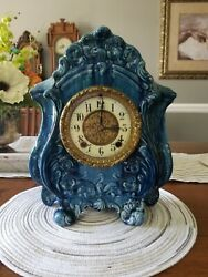 Antique Gilbert Porcelain Clock In Great Condition