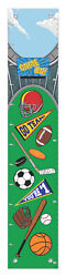 Childrens Bedroom Decor Sports Growth Chart For Kids Sports Vinyl Growth Chart