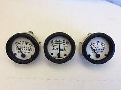 Tractor Oil Pressure, Amp And Temperature Gauge Set For John Deere D, H Styled