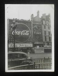 1940s Coca-cola And Guinness Time Signs Piccadilly Circus London Uk Photograph