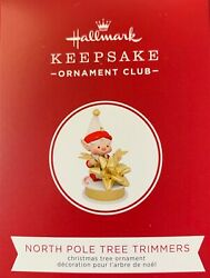 New 2019 Hallmark Koc Event Exclusive North Pole Tree Trimmers Repaint