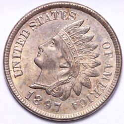 1897 Indian Head Cent Penny Choice Bu Free Shipping E715 Anm