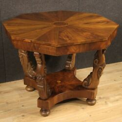 Italian Living Room Table Furniture In Inlaid Wood Antique Style 900