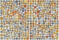 500 Different Coins From 100 World Countries. Old Collectible Foreign Currency