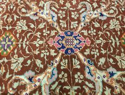 Exquisite Cr1930-1939s Antique Wool Pile Natural Dye Hereke Runner 3and0394andtimes10and039