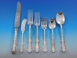 Louis Xv By Roden Canada Sterling Silver Flatware Set For 6 Service 44 Pc Dinner