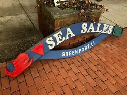 Triangle Sea Sales Greenport Li Large Authentic Wood Sign 9and039