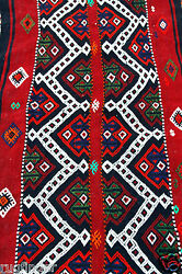 Exquisite 1900-1939and039s Antique Tribal Camel Bag Embroidered Panels Rug 6x7ft