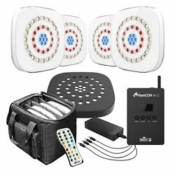 4chauvet Freedom Centerpiece Wireless Floral Up-lights+flarecon Wi-fi Receiver