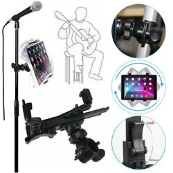 Music Microphone Stand Holder Mount For 7-11 Tablet Ipad Air 5 4 3 2 Samsungtab