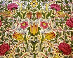 Tulips And Roses William Morris Painting Artwork Paint By Numbers Kit Diy