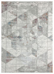 Red Faded Prisms Shaded Diagonals Contemporary Area Rug Geometric 4525 10233