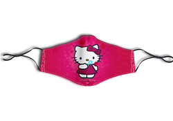 Custom Print Cute Pink HELLO KITTY Sanrio Face Mask AdultKids Washable Reusable $14.99