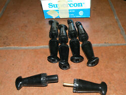 Superior Electric 5 Supercon Pin / Socket Pairs 25 Amp Ps25gb And Pp25gb Black