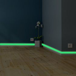 Luminous Band Baseboard Wall Bedroom Eco Friendly Decoration Glow In The Dark