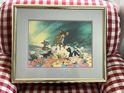 Disneyand039s Bambi Animation Cell With Thumber And Flower. Sold Out Edition 339/500