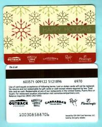 Outback Steakhouse Happy Holidays 2011 Gift Card 0  2/2