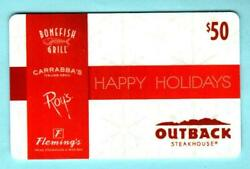 Outback Steakhouse Happy Holidays Snowflakes 2012 Gift Card 0