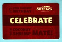 Outback Steakhouse Celebrate 2014 Gift Card 0