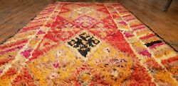 Late 1930and039s Antique Henna Dye Wool Pile Nagorno-karabahk Runner 2and0399andtimes10and0395